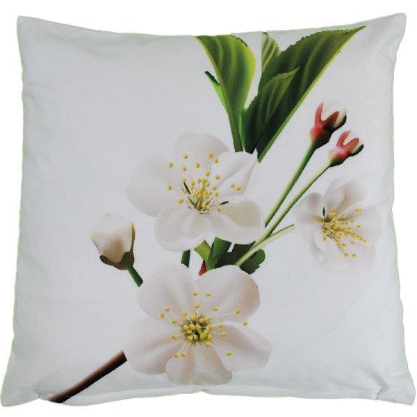 Poszewka Welurowa 3d Białe Kwiaty 45x45 Cm